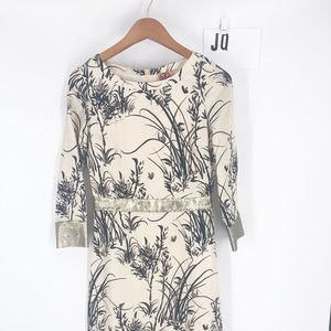 Tory Burch silk floral dress Sz 0